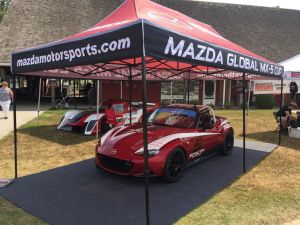 We had the new Mazda Global MX-5 Cup car on display during the NASA Eastern Championships at VIR. The car was very well received, and a lot of club racers were excited to get their first look at the pro car for next year. SCCA racers will get a chance to see it in a few short weeks, during the Runoffs at Daytona.