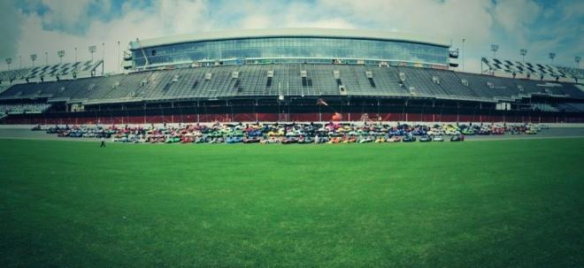 144 Mazdas were on hand at the Runoffs, more than any other brand. Here's the entire marque lined up in the trioval.